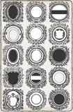 Set of Vintage Graphic Garlands for Logos stock illustration