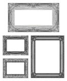 Set 4 of Vintage gray frame with blank space, clipping path Stock Photos