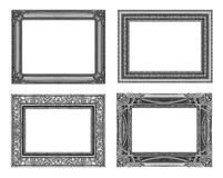 Set 4 of Vintage gray frame with blank space, clipping path.  Royalty Free Stock Photo