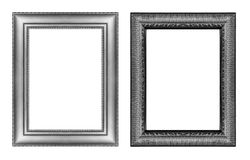 Set of vintage gray frame with blank space  isolated on white ba Royalty Free Stock Images