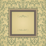 Set of vintage greeting cards, invitation with floral ornaments Royalty Free Stock Images