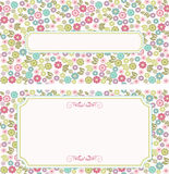 Set of vintage greeting cards Royalty Free Stock Images