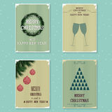 Set of vintage greeting cards Royalty Free Stock Photos