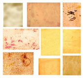 Set of vintage grunge paper folias Stock Photography