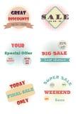 Set of vintage halftone badges. And labels Stock Illustration