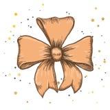 Set of vintage hand drawn ribbon bows. Vector illustration. EPS Royalty Free Stock Photography