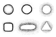 Set of vintage hand drawn vector design elements, signs stock illustration