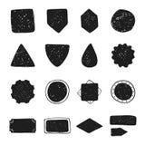 Set of vintage hand drawn vector shapes design elements royalty free illustration