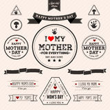Set of vintage Happy Mothers Day Royalty Free Stock Image