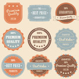 Set of vintage high premium quality badges and lab Royalty Free Stock Photos