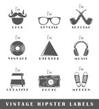 Set of vintage hipster labels Stock Images