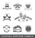 Set of vintage hipster labels Royalty Free Stock Photo