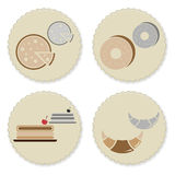 Set of vintage homemade bakery badges Royalty Free Stock Photo
