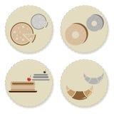 Set of vintage homemade bakery badges Royalty Free Stock Photo