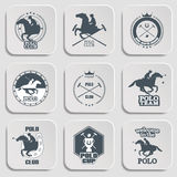 Set of vintage horse polo club labels and badges Royalty Free Stock Images