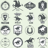 Set of vintage horse polo club labels Royalty Free Stock Images
