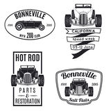 Set of vintage hot rod icons Royalty Free Stock Photography