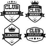 Set of Vintage Ice Hockey Club Badge and Label Royalty Free Stock Photos