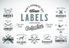 Set of Vintage Icons, Labels or Logo Templates  Stock Photo