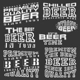 Set of vintage insignia for beer. Royalty Free Stock Photography