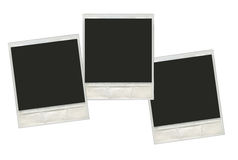 Set vintage instant polaroid photo frames Stock Images