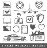 Set of vintage insurance labels Royalty Free Stock Photo
