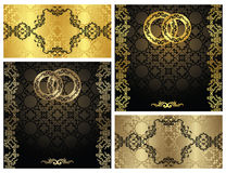 Set of vintage invitations Stock Photography