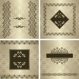 Set of vintage invitations Royalty Free Stock Photography