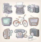 Set of vintage items. Icons Royalty Free Stock Images