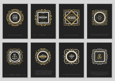 Set of Vintage Label cards Royalty Free Stock Photos