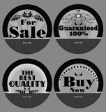 Set of Vintage Label Products Royalty Free Stock Images