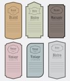 Set of vintage label vector illustration Royalty Free Stock Photos