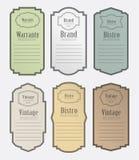Set of vintage label vector illustration Stock Image
