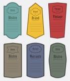Set of vintage label vector illustration Stock Images