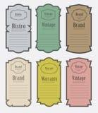 Set of vintage label vector illustration Royalty Free Stock Image