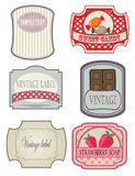 Set of vintage labels stock photography