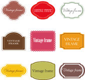 Set of vintage labels royalty free illustration