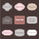 Set of vintage labels Stock Image