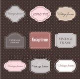 Set of vintage labels stock illustration