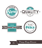 Set of vintage labels. Vector art Royalty Free Stock Image