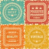 Set of Vintage Labels Stock Photo
