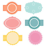 Set of vintage labels and banners Royalty Free Stock Images