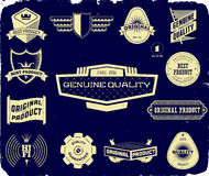 Set of vintage labels on the black. Collection 1 Stock Image