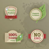 Set of vintage labels with ecological thematics Royalty Free Stock Photography