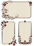 Set of vintage labels with floral ornament. Over white Royalty Free Stock Image