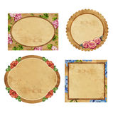 Set of vintage labels with flowers Royalty Free Stock Images