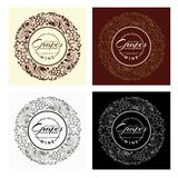 Set vintage labels. Royalty Free Stock Photography