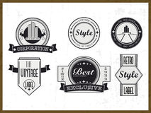 Set of vintage labels, insignia and business symbols. Stock Images