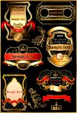 Set of vintage labels. Royalty Free Stock Photography
