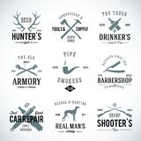 Set of Vintage Labels With Retro Typography for Stock Photo